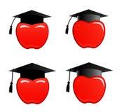 Apple in protezione di graduazione Immagine Stock Libera da Diritti