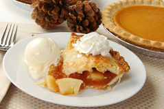 Apple and pumpkin pie Stock Photography
