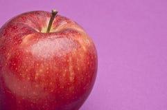 Apple on Purple Stock Photo