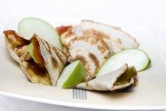 Apple鸡Quesadilla 免版税图库摄影