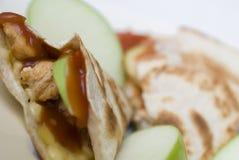 Apple鸡Quesadilla 免版税库存图片
