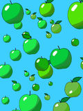 Apple rain Royalty Free Stock Photos