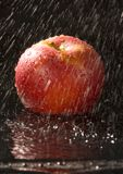 Apple in the rain Royalty Free Stock Photos