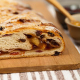 Apple and Raisin Cake Stock Image