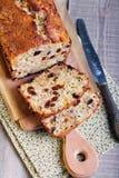 Apple and raisin crumble cake Stock Image