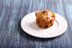 Apple, raisin  and walnut muffin Royalty Free Stock Photo