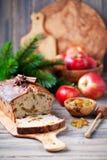 Apple, raisins and cinnamon cake Stock Images