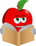 Apple reading Royalty Free Stock Images