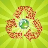 Apple recyling symbol Royalty Free Stock Images