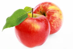Apple red. On a white background Stock Photo