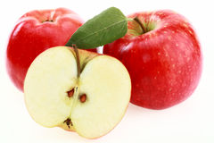 Apple red. On a white background Royalty Free Stock Image