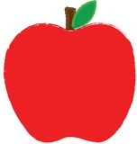 Apple red. Red apple illustration.  To use in a logo or design Royalty Free Stock Images