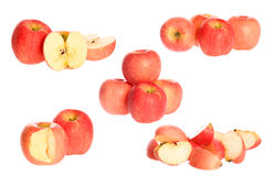 Apple. Red apples isolated on white Stock Photos