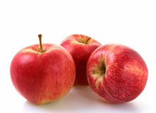 Apple. Red apples on a white background Royalty Free Stock Images