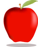 Apple. Red color apple with a leave Stock Photo