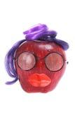 Apple red delicious se vistió como cara Fotografía de archivo libre de regalías