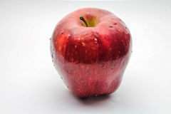 Apple. Red apple with drops of water Royalty Free Stock Photography