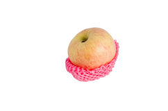 Apple. On red foam shockproof Royalty Free Stock Photography
