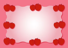 Apple - red fruits. Red apple frame  illustration of fruits Stock Photo
