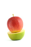 Apple red and green. Clean, fresh and appetizing Stock Photo