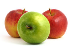 Apple red and green. Clean, fresh and appetizing Royalty Free Stock Image