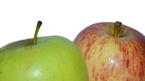 APPLE RED AND GREEN Royalty Free Stock Photography
