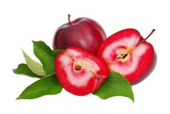Apple red isolated Royalty Free Stock Photos