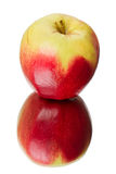 Apple with a red side Royalty Free Stock Photography
