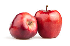 Apple red two Royalty Free Stock Images