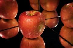 Apple, Reflexion. Lizenzfreies Stockfoto