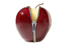 Apple-Reißverschluss stockbilder