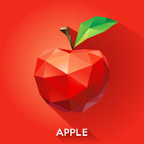 Apple rendered in a geometric style royalty free illustration