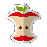 Apple rest isolerad symbol vektor illustrationer