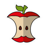 Apple rest isolerad symbol stock illustrationer