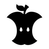 Apple rest isolerad symbol royaltyfri illustrationer