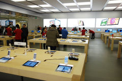 Apple retail store in Chengdu interior royalty free stock photography