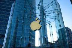 Apple retail store in Shanghai  lujiazui Royalty Free Stock Image