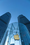 Apple retail store in Shanghai lujiazui. Apple retail store in Shanghai, located in Shanghai Lujiazui business and financial center ,Pudong New Area royalty free stock photography