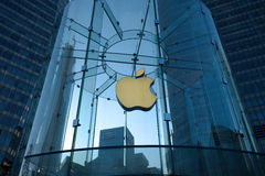 Apple retail store in Shanghai  lujiazui Stock Photography