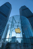 Apple retail store in Shanghai  lujiazui Royalty Free Stock Photo