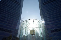 Apple retail store in Shanghai pudong Stock Photos