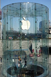 Apple retail store in Shanghai pudong Royalty Free Stock Photo