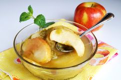 Apple and rhubarb fruit compote Royalty Free Stock Images