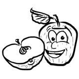 Apple riant dirigent des fruits d'illustration Illustration de Vecteur