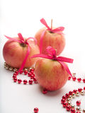Apple with ribbon Royalty Free Stock Photography