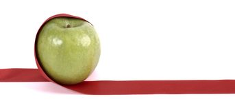 Apple ribbon Royalty Free Stock Photos
