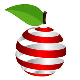 Apple from ribbon Stock Images