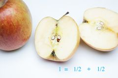 Apple rich in flavor and vitamins. The apple, sweet and tasty, ideal to be eaten both in the breakfasts and at noon and in the snacks, there are sweet and juicy royalty free stock photo