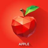Apple rindió en un estilo geométrico Imagenes de archivo