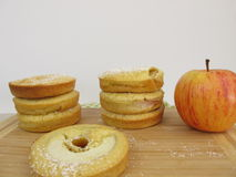 Apple rings pancake Stock Photos